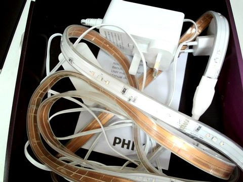 Lot 11061 PHILIPS HUE LIGHTSTRIP PLUS WHITE AND COLOUR AMBIANCE SMART LED KIT
