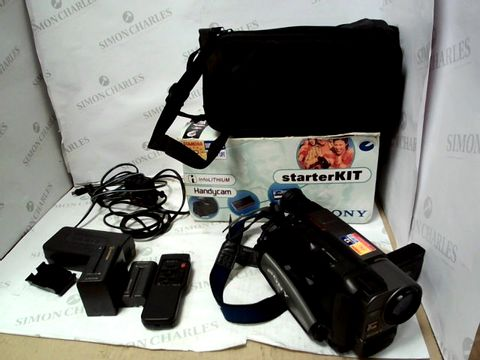 Lot 10308 SONY HANDYCAM STARTER KIT LCS-AK4 CAMCORDER