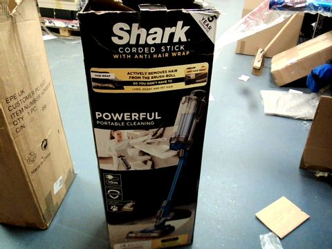 Lot 12018 SHARK HZ400UKT CORDED STICK VACUUM CLEANER