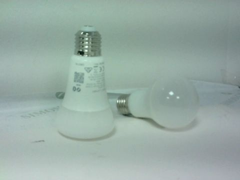 Lot 4187 PHILIPS HUE WHITE SMART BULB TWIN PACK LED [E27 EDISON SCREW] WITH BLUETOOTH