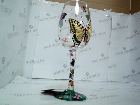 Lot 7433 LOLITA BUTTERFLY WISHES WINE GLASS RRP £24.99