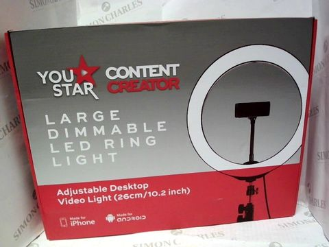 Lot 2081 YOUR STAR LARGE DIMMABLE LED RING LIGHT