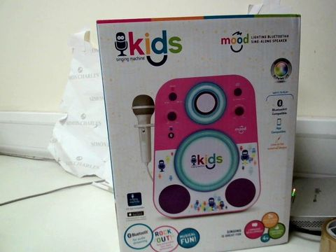 Lot 471 BLUE TOOTH SING ALONG MACHINE RRP £62.99