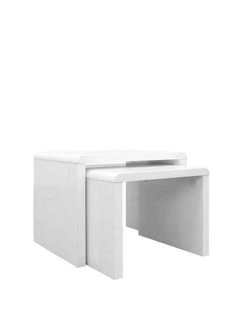Lot 1258 ATLANTIC NEST OF 2 TABLES - WHITE RRP £109.00