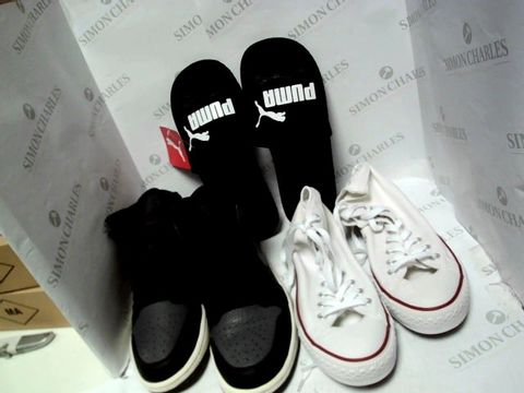 Lot 1257 LOT OF 20 PAIRS OF UNBOXED SHOES TO INCLUDE NIKE, PUMA, CONVERSE ETC.