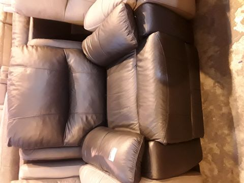 Lot 5061 DESIGNER BROWN POWER RECLINING EASY CHAIR