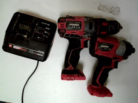 Lot 67 EINHELL 18V CORDLESS IMPACT DRILL & IMPACK DRIVER TWIN PACK
