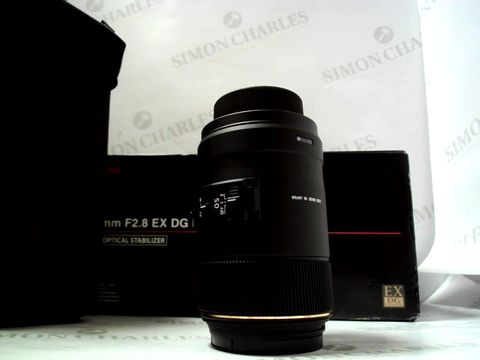 Lot 602 BOXED SIGMA 105MM F/2.8 EX MACRO DG HSM OPTICAL STABILISER LENS FOR NIKON RRP £499.99