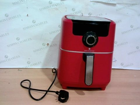 Lot 4062 COOK'S ESSENTIALS AIR FRYER - RED