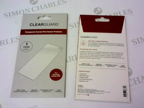 Lot 158 A BRAND NEW BOX OF APPROXIMATELY 136 CLEARGUARD CURVED FILM SCREEN PROTECTORS FOR SAMSUNG GALAXY S10+