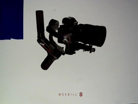 Lot 7073 ZHIYUN WEEBILL-S OFFICIAL 3-AXIS GIMBAL STABILIZER FOR DSLR CAMERAS