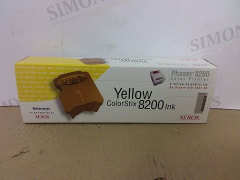 Lot 443 BOX OF APPROXIMATELY 22 BRAND NEW PACKS OF XEROX YELLOW COLORSTIX 8200 INK