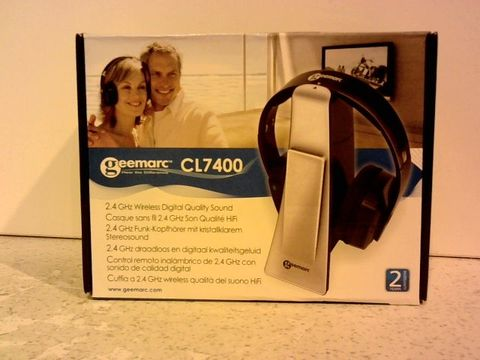 Lot 11688 GEEMARC CL7400- HIGHLY AMPLIFIED WIRELESS DIGITAL HEADSET AND TV LISTENER