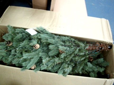 Lot 9011 PINECONE CHRISTMAS TREE PRE-LIT