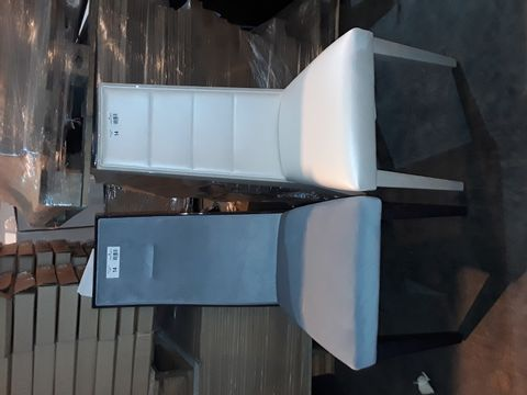 Lot 14 TWO DESIGNER HIGH BACKED SINGLE DINING CHAIRS