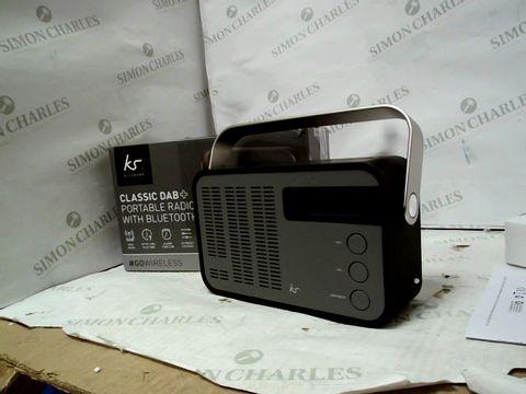 Lot 12091 KIT SOUND CLASSIC DAB+ PORTABLE RADIO WITH BLUETOOTH