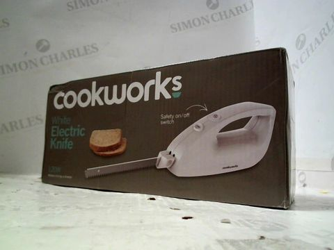 Lot 234 COOKWORKS WHITE ELECTRIC KNIFE 120W