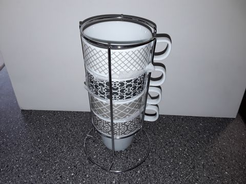 Lot 9169 LOT OF 8 4-CUP MUG STANDS