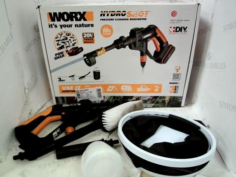 Lot 15304 WORX HYDRO SHOT PRESSURE CLEANER