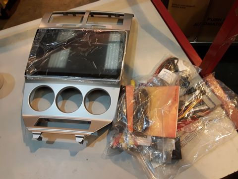 Lot 90 CAR MP5 PLAYER WITH SILVER MOUNTING FACIA & WIRING (UNKNOWN VEHICLE)