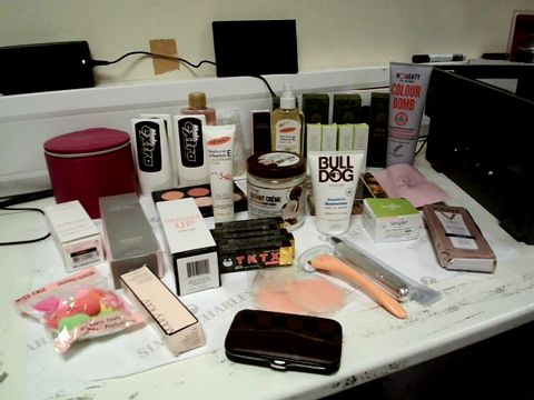 Lot 8225 A BOX OF ASSORTED HEALTH AND BEAUTY COSMETICS INCLUDING MALE EXTRA X3, X4 SATIN LIPS AND TKTX NUMBING CREAM X5