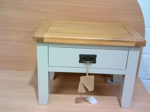 Lot 1050 OAKLAND PAINTED SOLID WOOD LAMP TABLE (1 BOX)  RRP £159.00