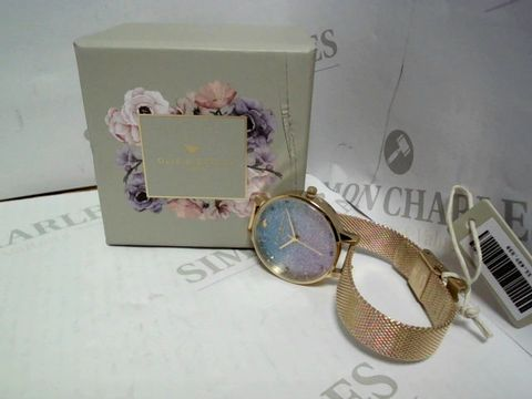 Lot 416 OLIVIA BURTON WISHING WAVE GLITTER DIAL WATCH RRP £139.00