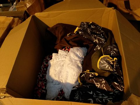 Lot 10715 BOX OF APPROXIMATELY 34 ASSORTED ITEMS OF CLOTHING