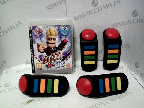 Lot 7366 BUZZ! QUIZ WORLD FOR PLAYSTATION 3