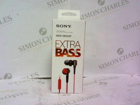 Lot 1006 SONY MDR-XB50AP IN EAR HEADPHONES