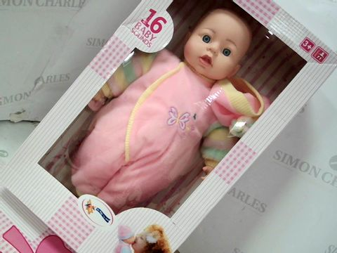Lot 516 MAGIC TOY SHOP BABY DOLL - 16 SOUNDS