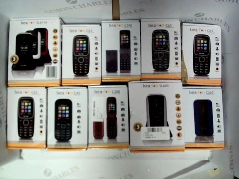 Lot 1400 LOT OF APPROXIMATELY 10 ASSORTED BEA-FON MOBILE PHONES