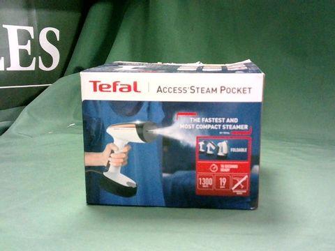 Lot 4090 TEFAL ACCESS STEAM POCKET DT3030 GARMENT STEAMER