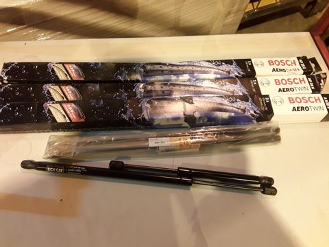"Lot 32 BOSCH AERO TWIN WIPER BLADES 28"" & 26"" & ASSORTED GAS STRUTS"