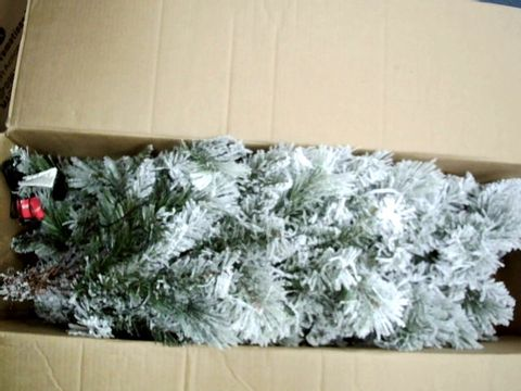 Lot 8703 WE R CHRISTMAS 6FT SLIM FLOCKED SPRUCE