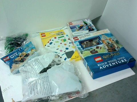 Lot 6034 BOX OF ASSORTED LEGO ITEMS TO INCLUDE FROZEN II, HARRY POTTER, LEGO CITY ETC