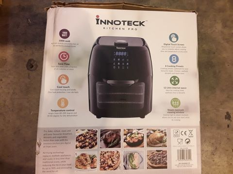 Lot 8021 BOXED INNOTECK KITCH PRO 1800W 12 LITRE AIR FRYER