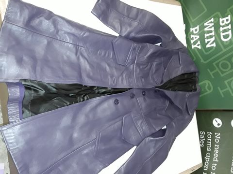 Lot 51 NAPPA LEATHER BUTTON FRONT JACKET IN PURPLE - SIZE UNSPECIFIED