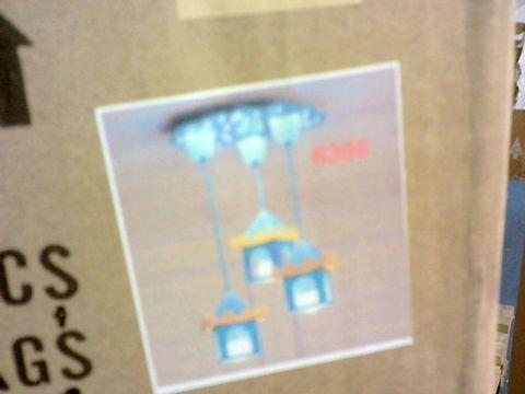 Lot 250 BOXED DESIGNER KIDS HOUSE DESIGN CEILING LIGHT