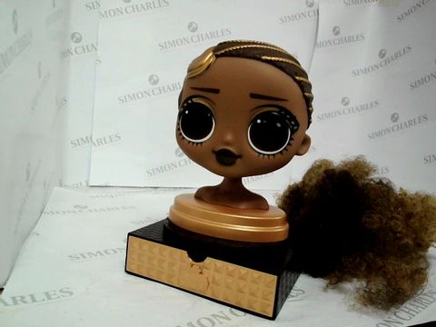 Lot 7428 LOL SURPRISE O.M.G. STYLING HEAD ROYAL BEE WITH STICK-ON HAIR RRP £40.00