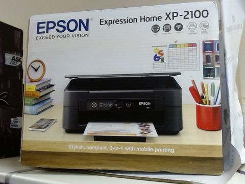 Lot 7924 EPSON EXPRESSION HOME XP-2100 WIFI ENABLED COLOUR PRINTER