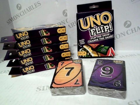 Lot 12 MATTEL UNO FLIP CARD GAME x6