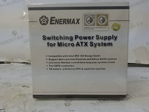Lot 281 ENERMAX SWITCHING POWER SUPPLY FOR MICRO ATX SYSTEM (SEALED)
