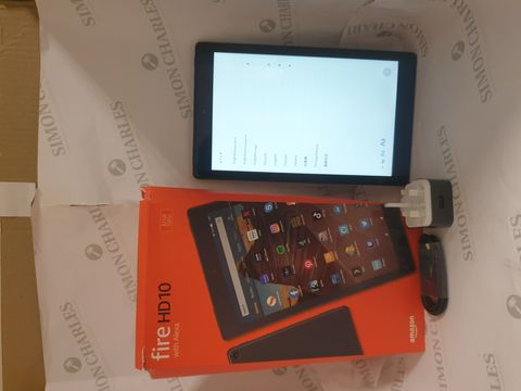 Lot 4 BOXED AMAZON FIRE HD10 32GB ANDROID TABLET - BLACK