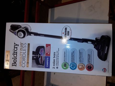 Lot 3053 BELDRAY AIRGILITY + CORDLESS VACUUM CLEANER
