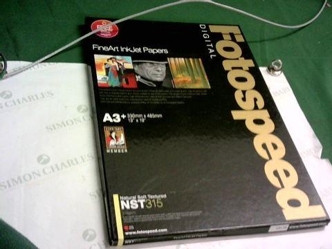 Lot 10014 FOOTSPEED FINEART INKJET PAPERS 25 X A3