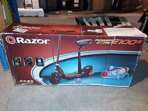 Lot 2209 RAZOR POWERCORE E100S 24V SCOOTER - RED RRP £316.99