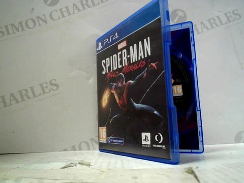 Lot 48 MARVEL SPIDER-MAN MILES MORALES PLAYSTATION 4 GAME