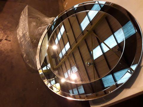 Lot 10509 BOXED LUXENOA REFLECT CIRCLE WALL MIRROR