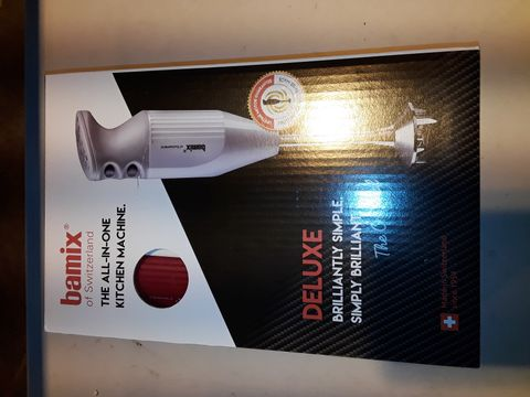 Lot 3190 BAMIX ALL IN ONE KITCHEN MACHINE HAND BLENDER - RED